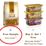 Free Sample of Rachael Ray Zero Grain Dog Food