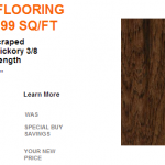 Home Depot: Hardwood Flooring Only $1.99 SQ/FT + Free Shipping