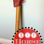 Kid's Horse Craft Made from a Wrapping Paper Tube