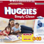 Huggies Simply Clean Fragrance Free Baby Wipes (648 ct) Only $8.58!