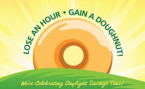 Krispy Kreme: Free Doughnut for Daylight Savings (March 9th)