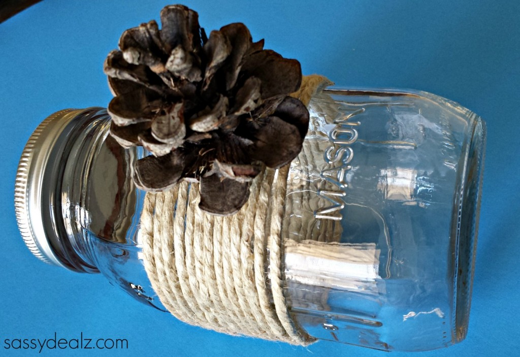 mason-jar-craft-pinecone-kids