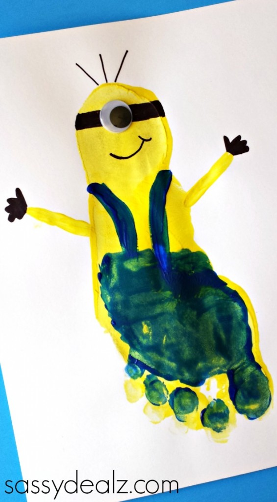Minion Footprint Craft for Kids (Despicable Me)