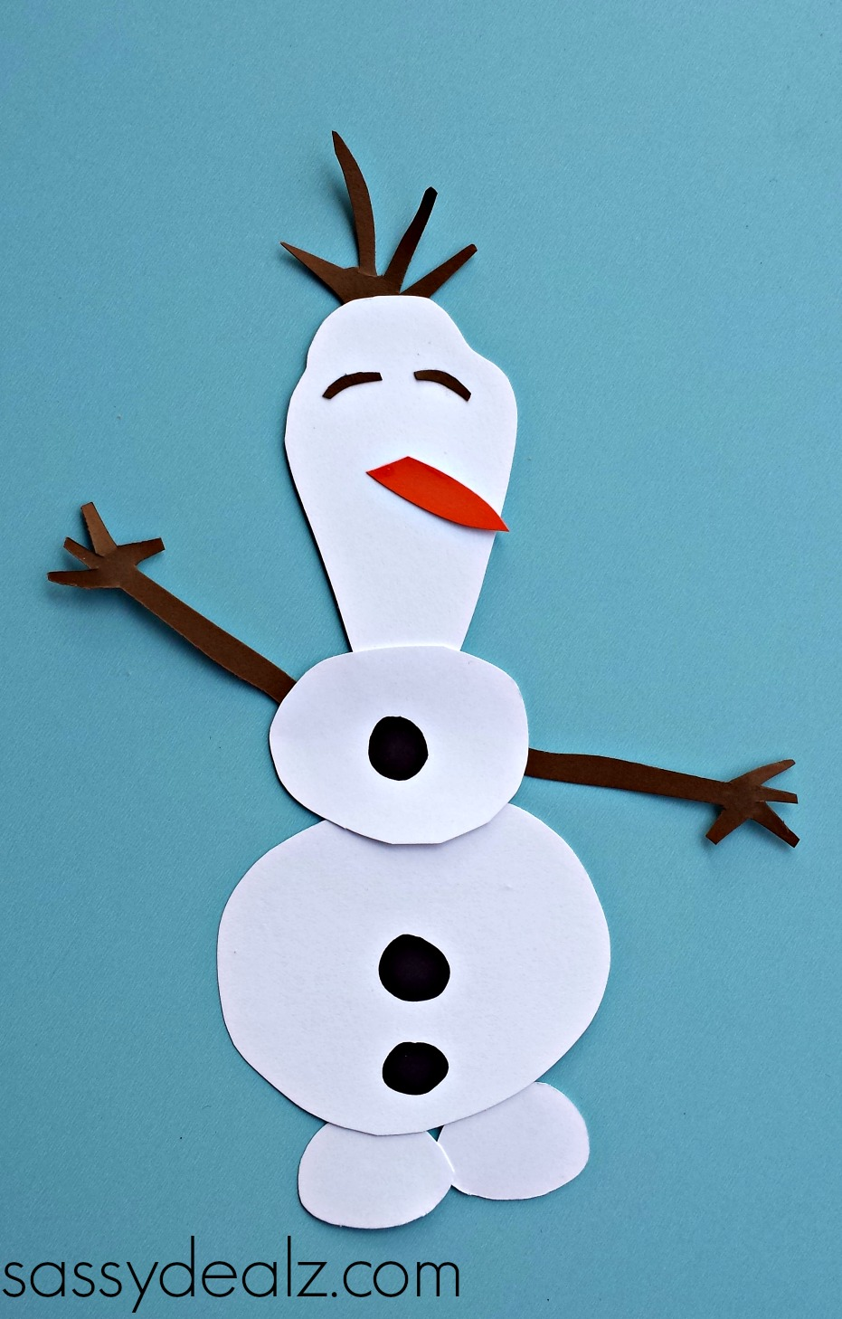 frozen olaf toilet paper roll craft for kids - crafty morning