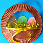 3D Paper Plate Easter Basket Craft for Kids