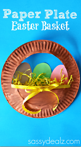 3d paper plate easter basket craft for kids crafty morning paper plate easter basket craft negle Image collections