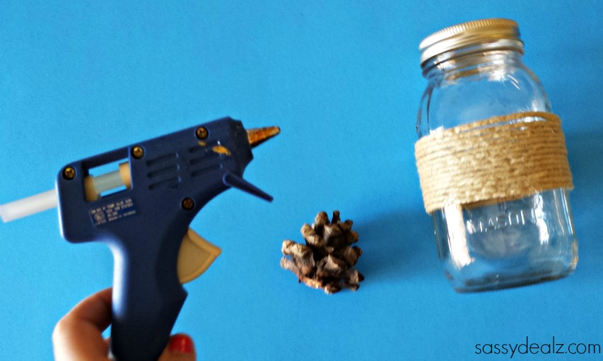 pine-cone-mason-jar