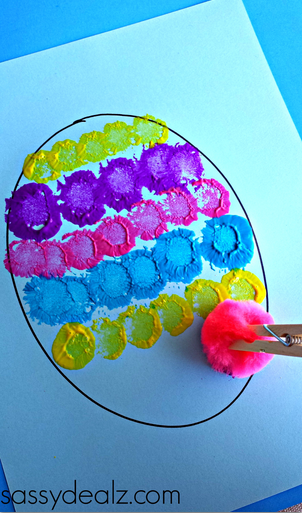 easter egg ideas crafts pom pom easter egg painting craft for crafty morning 4320