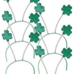 6 St. Patrick's Day Shamrock Headbands Just $5.67 + Free Shipping
