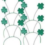 6 St. Patrick's Day Shamrock Headbands Just $5.67 + Free Shipping