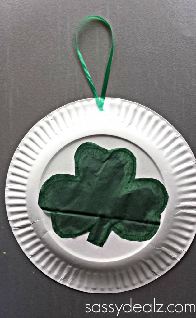 shamrock-paper-plate-art