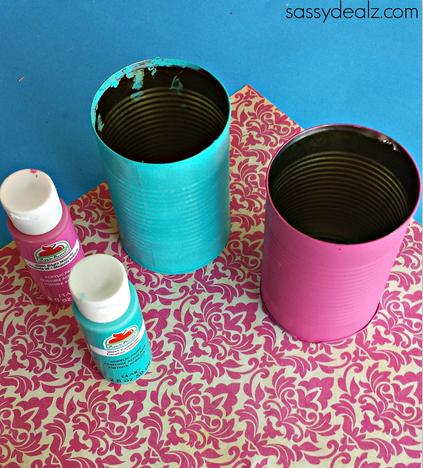 Diy Soup Can Flower Vase Craft Crafty Morning