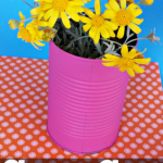 DIY Soup Can Flower Vase Craft