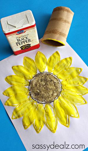 sunflower-toilet-paper-roll-art