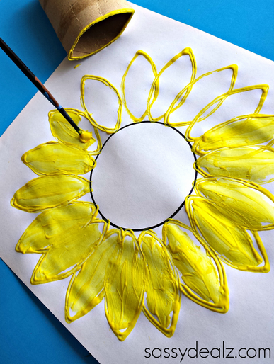 Once you covered the whole circle, start painting in the petals with ...