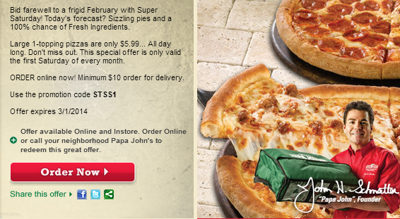 super saturday papa johns