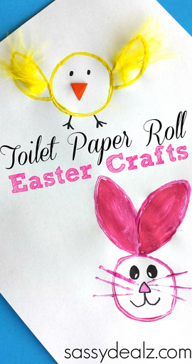 Toilet Paper Roll Easter Crafts Crafty Morning