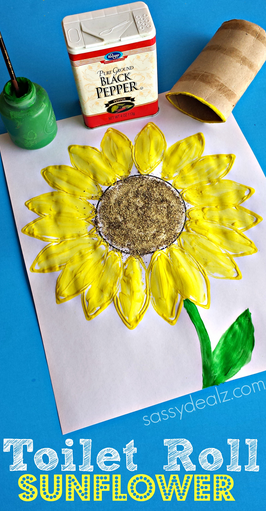 You will need a recycled toilet paper roll, yellow/green paint, a ...