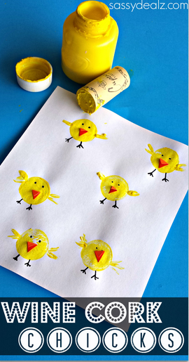 wine-cork-chick-craft-for-easter