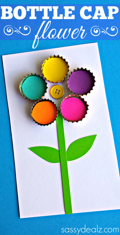 bottle-cap-flower-craft-for-kids