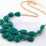 Water Drop Bib Stone Pendant Necklaces Only $1.59 + Free Shipping