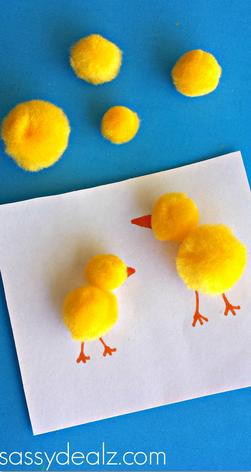 chick-pom-pom-craft-for-kids