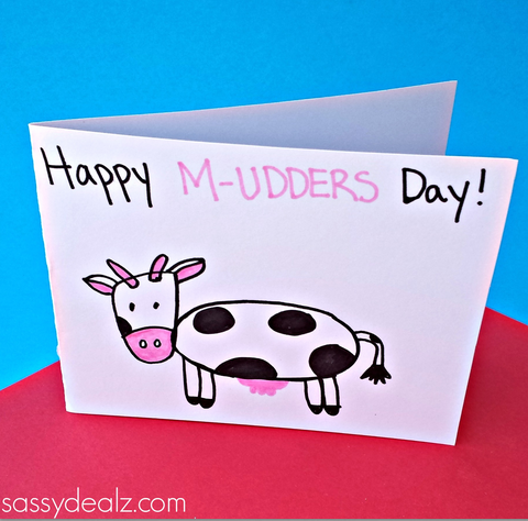 Cow mother 39 s day card idea for kids to make crafty morning Good ideas for mothers day card
