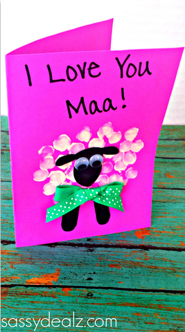 Fingerprint Sheep Mother S Day Card Idea Crafty Morning