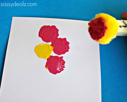 flower-pom-pom-craft