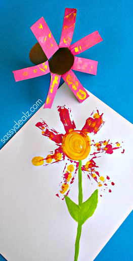 Flower Craft for Kids Using a Toilet Paper Roll