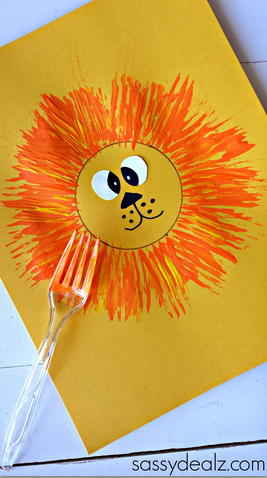 fork-lion-kids-craft-