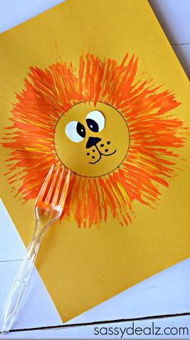 fork-lion-kids-craft-