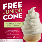 Carvel: Free Junior Ice Cream Cone or Cup (May 1st, 3-8PM)