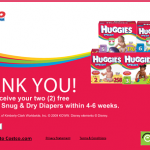 2 Free Huggies Snug and Dry Diapers!
