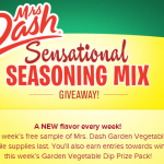 Free Sample of Mrs. Dash's Garden Vegetable Dip Mix