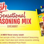 Free Sample of Mrs. Dash Meatloaf Seasoning Mix