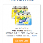 Kroger & Affiliates: Load Your eCoupon for a FREE 12-Pack of Nestea!
