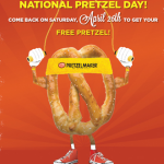 Pretzelmaker: Get a FREE Pretzel (April 26th Only)