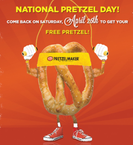 Pretzelmaker: Get a FREE Pretzel (April 26th Only)