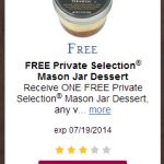 Kroger eCoupon: Free Private Selection Mason Jar Dessert