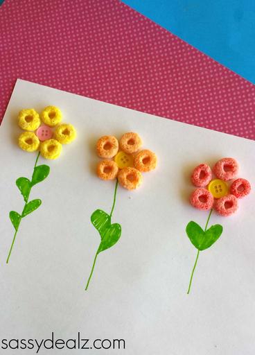 fruit-loop-flower-craft