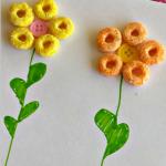 Simple Fruit Loops Flower Craft for Kids