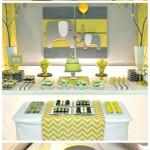 Yellow & Gray Chevron Baby Shower Ideas (Elephant Theme)