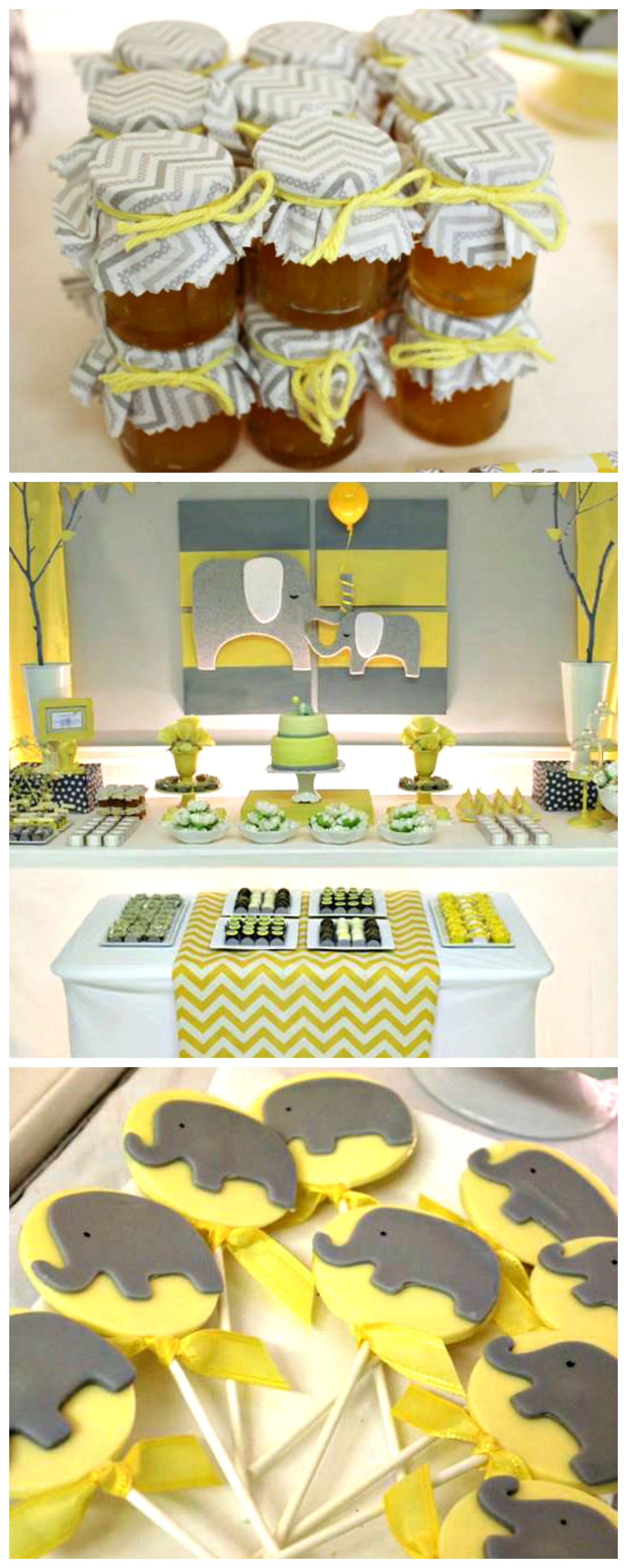 image yellow and grey chevron baby shower download