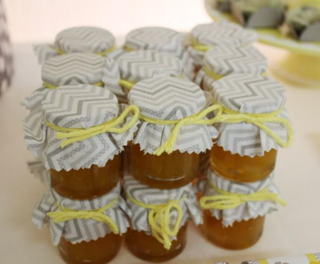 Yellow Gray Chevron Baby Shower Ideas Elephant Theme Crafty