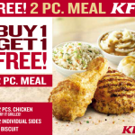 KFC Coupon: Buy One, Get One 2-Piece Meal Free! (Exp 5/11)