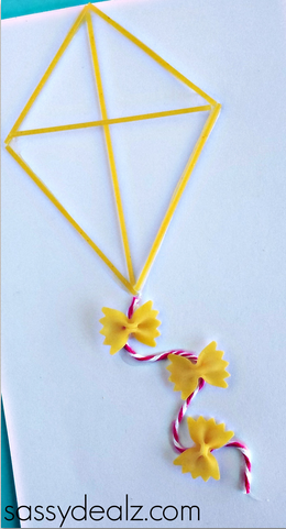 Pasta Noodle Kite Craft For Kids Crafty Morning