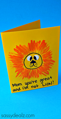 Lion Mothers Day Card For Kids