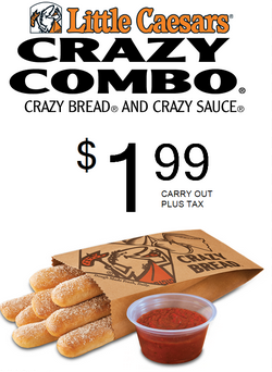 graphic relating to Little Caesars Printable Coupons referred to as Very little Caesars Coupon: Mad Bread/Sauce Simply $1.99 - Sy