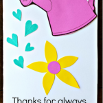 Watering Can Mother's Day Card Kids can Make